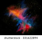 launched colorful powder on... | Shutterstock . vector #331622894