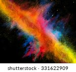 launched colorful powder on... | Shutterstock . vector #331622909