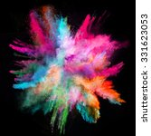 launched colorful powder on... | Shutterstock . vector #331623053