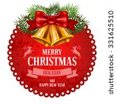 christmas vintage label with... | Shutterstock .eps vector #331625510