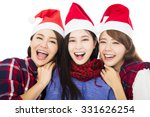 Happy Young Woman Group In...