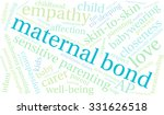 maternal bond word cloud on a... | Shutterstock .eps vector #331626518