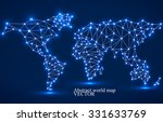 abstract polygonal world map... | Shutterstock .eps vector #331633769