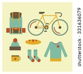 icon set of travel outdoor... | Shutterstock .eps vector #331636079
