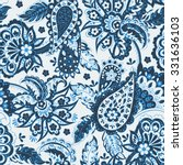 floral seamless pattern with... | Shutterstock .eps vector #331636103