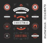 christmas labels and badges... | Shutterstock .eps vector #331638470