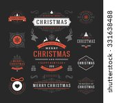 christmas labels and badges... | Shutterstock .eps vector #331638488
