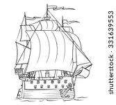 cartoon sailing ship....   Shutterstock .eps vector #331639553
