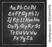 illustration of chalk sketched... | Shutterstock . vector #331641476