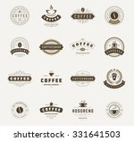 coffee shop logos  badges and... | Shutterstock .eps vector #331641503