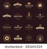 coffee shop logos  badges and... | Shutterstock .eps vector #331641524