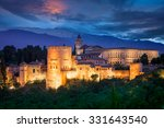 night view of famous alhambra ... | Shutterstock . vector #331643540