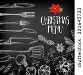 vector christmas restaurant... | Shutterstock .eps vector #331645733