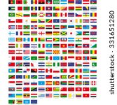 flags of the world | Shutterstock .eps vector #331651280