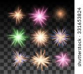 vector fireworks collection.... | Shutterstock .eps vector #331653824