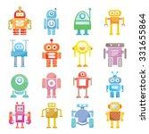 cartoon robots  vector set | Shutterstock .eps vector #331655864