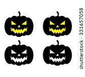 halloween pumpkin faces vector... | Shutterstock .eps vector #331657058