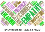 empathy word cloud on a white... | Shutterstock .eps vector #331657529