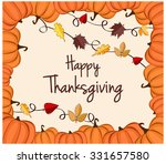 thanksgiving greeting card.... | Shutterstock .eps vector #331657580