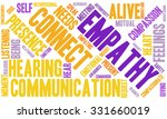 empathy word cloud on a white... | Shutterstock .eps vector #331660019
