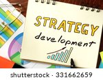 notepad with strategy... | Shutterstock . vector #331662659