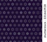 vector snowflakes seamless | Shutterstock .eps vector #331663928