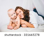 mother with baby | Shutterstock . vector #331665278