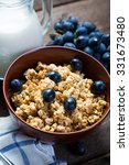 oatmeal with grapes  healthy... | Shutterstock . vector #331673480