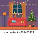 Christmas Room Interior....