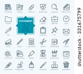 outline web icon set   office... | Shutterstock .eps vector #331675799