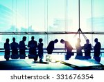 business people meeting bowing... | Shutterstock . vector #331676354