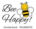 bee happy    vector... | Shutterstock .eps vector #331680293