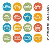 car line icons | Shutterstock . vector #331685393