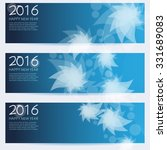 new year banner set  vector... | Shutterstock .eps vector #331689083