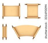 set of old paper scrolls....   Shutterstock .eps vector #331693094