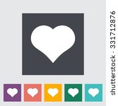 suit of heart. single flat icon ... | Shutterstock . vector #331712876