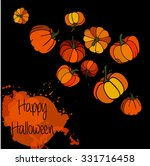 watercolor pumpkin with color... | Shutterstock .eps vector #331716458