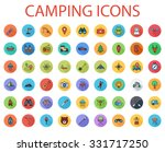 camping icons set. flat related ... | Shutterstock . vector #331717250