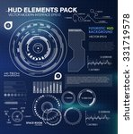 ui hud infographic interface... | Shutterstock .eps vector #331719578