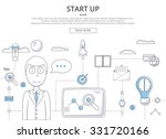 start up business concept.... | Shutterstock .eps vector #331720166