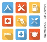 flat car travel service icons... | Shutterstock .eps vector #331722404