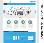 flat website template. vector...