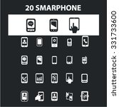 smartphone  mobile phone icons  ...