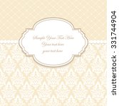 elegant invitation. decorative... | Shutterstock .eps vector #331744904