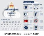 health benefits of garlic... | Shutterstock .eps vector #331745384