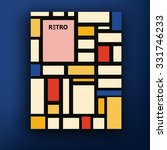vector retro bauhaus de stijl... | Shutterstock .eps vector #331746233