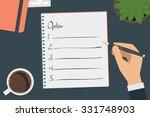 vector drawing option list... | Shutterstock .eps vector #331748903