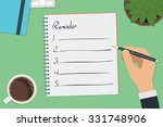 vector drawing reminder list... | Shutterstock .eps vector #331748906