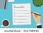 vector drawing recommendation... | Shutterstock .eps vector #331748930