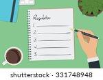 vector drawing regulation list... | Shutterstock .eps vector #331748948